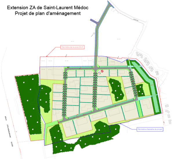 Plan projet extension ZA-St-Laurent-site