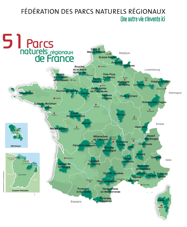 Carte PNR nationale